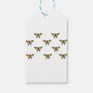 Étiquettes-cadeau étendez les papillons