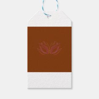 Étiquettes-cadeau Ethno brun de mandalas de conception