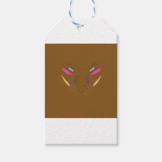 Étiquettes-cadeau Ethno brun d'éléments de conception