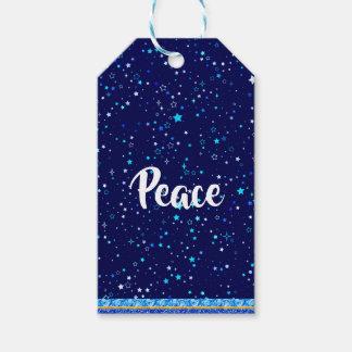 Étiquettes-cadeau Étoiles bleues 2