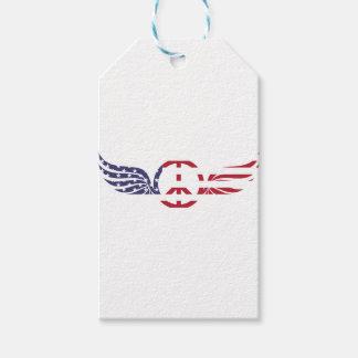 Étiquettes-cadeau Étoiles bleues blanches rouges Etats-Unis de
