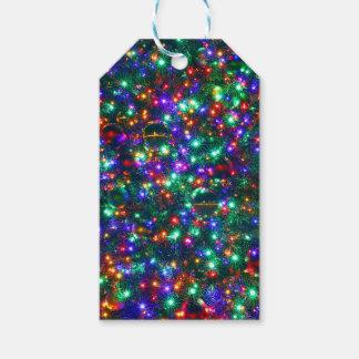 Étiquettes-cadeau Étoiles de scintillement de Noël
