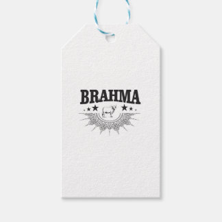 Étiquettes-cadeau Étoiles du taureau de Brahma