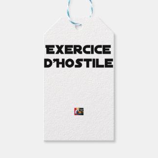 Étiquettes-cadeau Exercice d'Hostile - Jeux de Mots Francois Ville