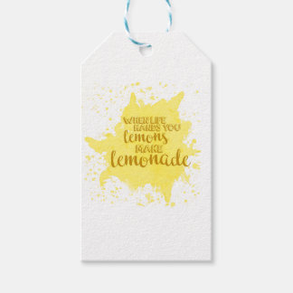 Étiquettes-cadeau Faites la limonade