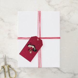 Étiquettes-cadeau fashionillustration élégant de Noël