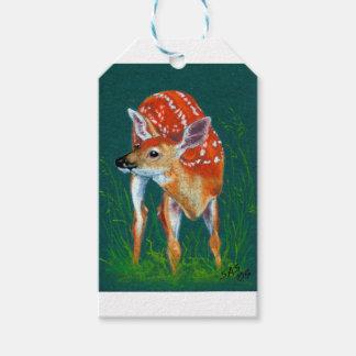 Étiquettes-cadeau Faune secrète de faon de cerfs communs