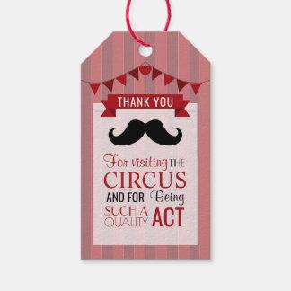 Étiquettes-cadeau Fête d'anniversaire de cirque des enfants