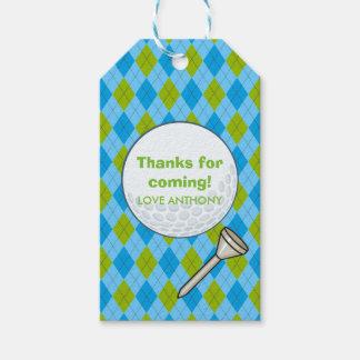 Étiquettes-cadeau Fête d'anniversaire de thème de golf d'enfants