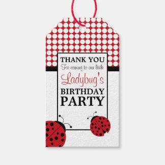 Étiquettes-cadeau Fête d'anniversaire des enfants rouges de