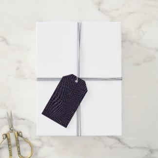 Étiquettes-cadeau Filet de scintillement en métal, bleu