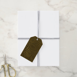 Étiquettes-cadeau Filet de scintillement en métal, d'or