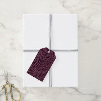 Étiquettes-cadeau Filet de scintillement en métal, rose