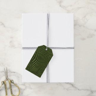 Étiquettes-cadeau Filet de scintillement en métal, vert