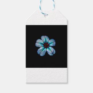 Étiquettes-cadeau Fleur au néon 1