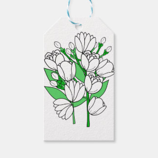 Étiquettes-cadeau Fleur de jasmin
