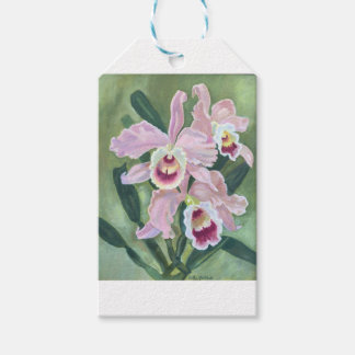Étiquettes-cadeau Fleur d'orchidée