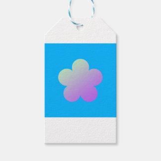 Étiquettes-cadeau Fleur sur un fond bleu