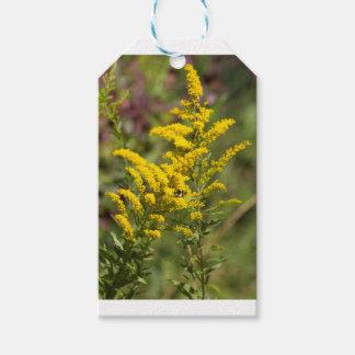 Étiquettes-cadeau Fleurs sauvages dorés