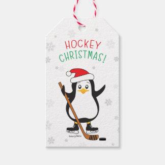 Étiquettes-cadeau Flocons de neige de casquette de Père Noël de