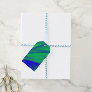 Étiquettes-cadeau Flux de bleu et de vert