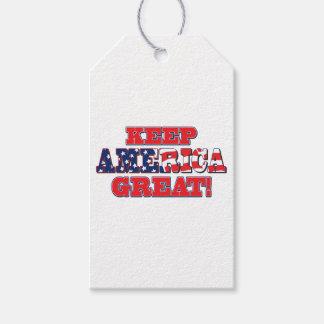 Étiquettes-cadeau Garder-Amérique-Grand