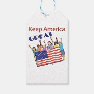 Étiquettes-cadeau Gardez le grand défilé adulte de l'Amérique