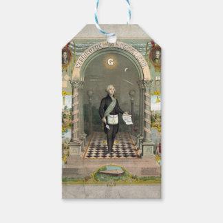 Étiquettes-cadeau George Washington en tant que franc-maçon