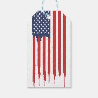 Étiquettes-cadeau Graffiti Etats-Unis de drapeau américain uni