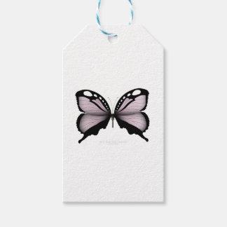 Étiquettes-cadeau Grand chasseur rose de papillon rose