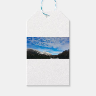 Étiquettes-cadeau Grand ciel bleu de montagnes blanches