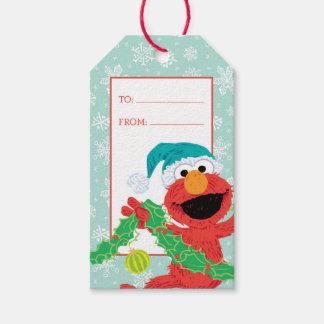 Étiquettes-cadeau Griffonnage Elmo de Joyeux Noël