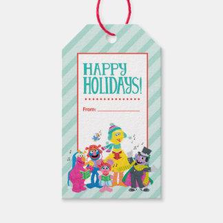 Étiquettes-cadeau Groupe de vacances du Sesame Street  