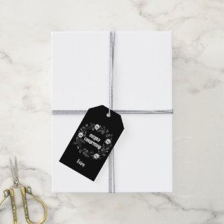 Étiquettes-cadeau Guirlande gothique de Noël