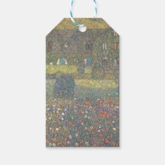 Étiquettes-cadeau Gustav Klimt - maison de campagne par l'art