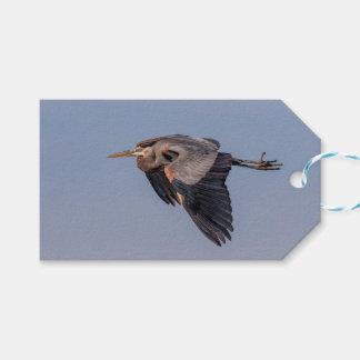 Étiquettes-cadeau Héron de grand bleu en vol