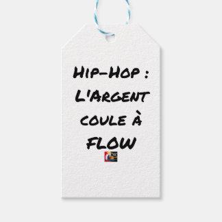 Étiquettes-cadeau HIP-HOP : L'ARGENT COULE À FLOW - Jeux de mots