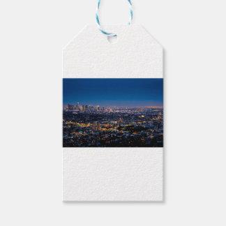 Étiquettes-cadeau Horizon de nuit de Los Angeles