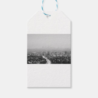 Étiquettes-cadeau Horizon noir et blanc de Los Angeles