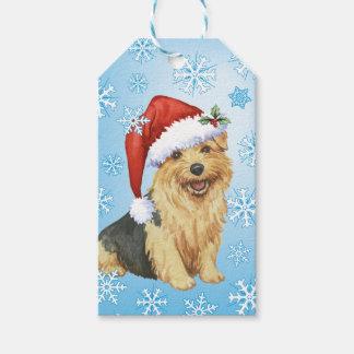 Étiquettes-cadeau Howlidays heureux Norfolk Terrier