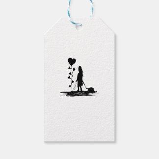Étiquettes-cadeau Illustration de concept d'amour d'encemencement