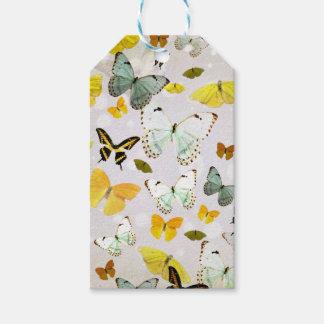 Étiquettes-cadeau Illustration des papillons