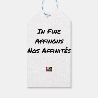Étiquettes-cadeau IN FINE, AFFINONS NOS AFFINITÉS - Jeux de mots