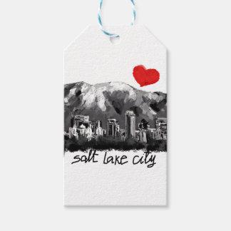 Étiquettes-cadeau J'aime Salt Lake City