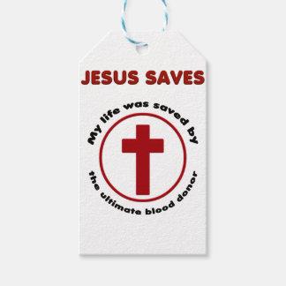 Étiquettes-cadeau Jésus économise, T-shirt chrétien de cadeau de