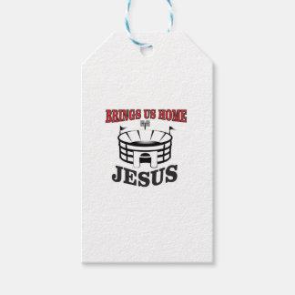 Étiquettes-cadeau Jésus nous amène à la maison