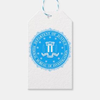 Étiquettes-cadeau Joint de FBI dans le bleu