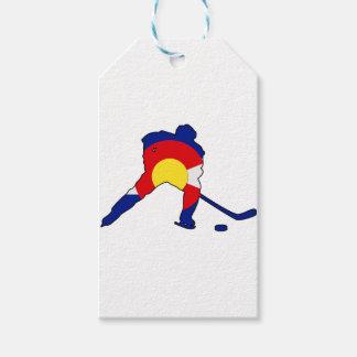 Étiquettes-cadeau Joueur de hockey du Colorado