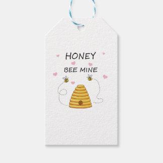 Étiquettes-cadeau Jour de Valentines de mine d'abeille