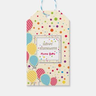 Étiquettes-cadeau Joyeux anniversaire coloré